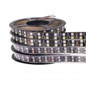 5050 Double Row LED Strip 120LEDs/m 5M DC 12V Black /White PCB RGBWW LED Light Flexible Tape White Warm White RGB RGBW