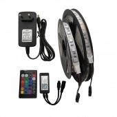 5M RGB LED Strip Set 5050 Flexible LED Tape + eWelink Samart Wifi Controller Alexa Google Home Voice Control+ Power Adapter