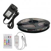 5M RGB LED Strip Set 5050 SMD Flexible LED Tape + Tuya Samart Wifi Controller Alexa Google Home Voice Control+ Power Adapter