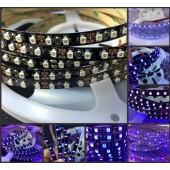 5M 395nm UV Ultraviolet Led strip 5050 3528 SMD Purple 60leds/m 120leds/m Flexible Strip Light 12V