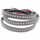 5m WS2812B Led Pixel Strip,60 pixels WS2812 IC,Addressable induvidual Full Color Black/White PCB,IP20/IP67 DC5V