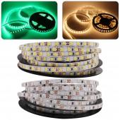 5MM PCB LED Strip 2835 SMD 120LEDs/M Flexible Tape Rope Light Warm White 5M/Lot DC 12V