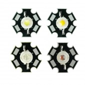 5PCS 5W Epiled White Warm white Red Green Blue High Power LED Emitter with 20mm Star Base for Plant Grow Aquarium