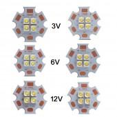 5pcs Cree XPG2 XP-G2 4Chips 18W LED Emitter instead of MKR XHP50 Cool White Warm White LED 3V/6V/12V with 20MM Coper PCB