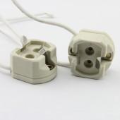5pcs G12 Light Socket 750V 4A 1500W 5KV G12 Lamp Holder Porcelain Ceramic High Temperature Resistant G12 HID LED Socket