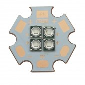 5Pcs Epiled 3535 4D 18W 450nm High Power Plant Grow LED Lighting Emitter Bulb 3V 6V 12V Royal Blue with 20MM Coper PCB