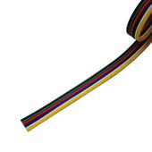 6 pin Wire Cable Extension Connector 4M/10M/15M/20M/25M/100M For 5050 RGB CCT RGBW+CW RGBW+WW LED Strip 22AWG line Lighting