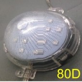80mm 24V B C D E F Type 20 Nodes DMX512 RGB 5050 LED Point Light