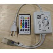 AC 220V 110V Bluetooth Music RGB Controller DIY IOS/Android App 24key IR Remote Controller EU Plug / US Plug