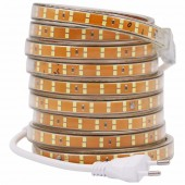 SMD 2835 Double Row LED Strip 220V-240V 156leds/m Waterproof Tape Rope Stripe Lighting 5m 10m EU Power Plug