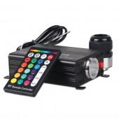 16W RGBW Fibre Optic Lighting With 24 Key RF Remote Controller Light Generator Optic Fiber Lights Engine
