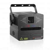 1W RGB SD Card DMX 512 Animation PRO Stage Laser Scanner Lighting Projector Disco DJ Party Wedding Club Bar Effect