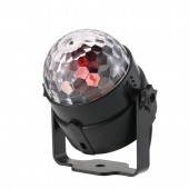 3W RGB LED Crystal Magic Ball DJ Disco Ball Lumiere Sound Activated Stage Lighting Effect Music Christmas Party Holiday