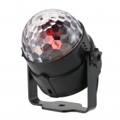 3W RGB LED DJ Disco Crystal Magic Ball Light Sound Activated Stage Lighting Effect Party Holiday Birthday Wedding KTV Lamp