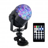 8W RGBW LED Disco Ball Strobe Light Waterwave Flame Sound Activated Stage Lighting Effect For DJ Party Holiday Birthday