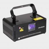 DMX512 500mW Blue DJ Laser Projector Scanner Stage Lighting Effect Disco Party Bar Home Xmas Remote Light Show Lights