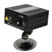 Mini RG 16 Patterns Laser Stage Lighting Effect IR Remote Laser Projector LED Blue Light Dance Party DJ Disco Home Lights