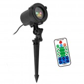 Remote Christmas Outdoor RG Laser Light Show Projector Waterproof Lights For Holiday Xmas Tree Decorations Garden Lighting
