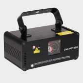 Remote DMX512 200mW RGY Laser Stage Lighting Scanner Effect Dance DJ Disco Party Show Light Xmas Projector Lights