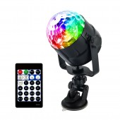 RGB 4W 15 Color USB LED Crystal Magic Disco Ball Light DJ Party Car Holiday Birthday Sound Activated Stage Lighting Effect