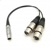 Atomos Dual 3 Pin Female XLR To 10 Pin Straight Plug Breakout Audio Input Cable for Shogun Monitor Recorder