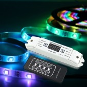 SK6812 RGBW LED Controller RGB LED Pixel Controller With RF Remote DC5V-24V