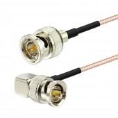BNC Male to BNC Male Right Angle HD SDI Vedio Cable for 4K HD SDI V Camcorder BMPCC VIDEO Blackmagic Camera HD SDI Video Cable