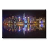 Hong Kong Skyline Giclee Modern Canvas Print Ben Heine 24 x 36 Inch