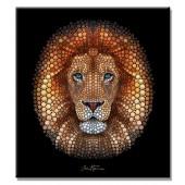 Ben Heine Digital Circlism Lion Giclee Modern Canvas Print 24 x 36 Inch
