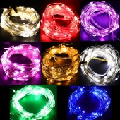 10m 100LED Battery Operated String Lights Dimmable Fairy Lights With Remote Control 8 Modes Holiday Christmas Lights