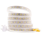 Color temperature Flexible LED Strip 220V 5730 SMD 120leds/m Cold White&Warm White Dual White CT Controller Plug 5630