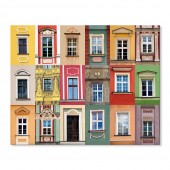 Modern Canvas Inkjet Print Art Landscape Colorful Apartments Wall Pictures Giclee Print on Canvas Stretched 24 x 36 Inch