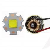 Cree XHP70.2 6V LED Bulb 16/20mm DTP Copper pcb+26mm 1/5 Modes Driver