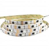 DC12V CS8208 (Similar to WS2813) 5050SMD RGB Breakpoint-continue 150Leds Individually Addressable Digital Strip Lights Waterproof Dream Color Programmable Flexible LED Ribbon Light 5m/16.4ft per Roll