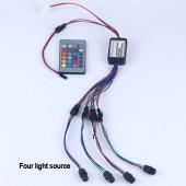 side glow fiber optic lights 2W DC 12V car / home decorative light illuminator constant current power supply +24 key remote RGB
