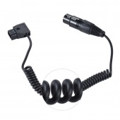 D TAP to XLR 4-pin mother for tvlogic LVM-170A monitor power Coiled cord, ROLAND EDIROL R88 power, Panasonic 17 inch monitor
