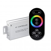 DC12-24V 144W-288W 3 Channels 4A/CH 8-Key RF Wireless LED RGB Touch Controller Aluminum w/ RF Remote for RGB LED Strip Lighting