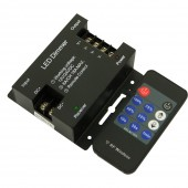 DC12-24V Iron Shell RF 11 Keys Led Dimmer; 6A*3 Channel(3CH Signal Are The Same)Output;Output Power 12V