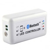 DC12/24V Max 12A Bluetooth 4.0 LED Bluetooth Controller by IOS Android RF Smartphone Control for RGB LED Panel Light Lamps Strip