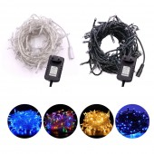 DC12V LED String Christmas Garland Fairy LED Holiday Light UK/EU/AU/US Power Adapter 10M Straw Hat