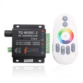 12V 24V RGB Controller with Music Rhythm Control 2.4G RF Remote
