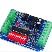 DC5V-24V RGBW DMX Decoder LED Strip Light Controller Easy 4-Channel DMX512 Decoder Board Easy to DMX Control