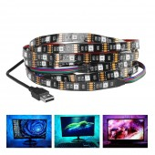 DC5V USB LED Strip Lamp 5050 RGB Backlight 1M 2M 3M HDTV TV PC Desktop Screen Light