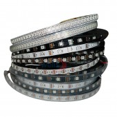 DC5V WS2812B 30/60/74/96/144 Pixels/leds/m Smart LED Pixel Strip,Black/White PCB WS2812 IC WS2812B/M IP30/IP65/IP67