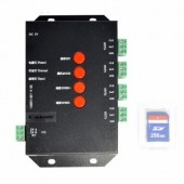 DC 5V T4000S RGB SD Card Led Pixel Controller T-4000S