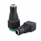 10Pcs CCTV High Current 2.1mm Power DC Connector 12V DC Female Power Jack DC Plug to Screw Terminal Adapter for 3528/5050/5730 Strips