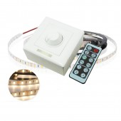 Dimming Wall Switch LED Dimmer DC12-24V 8A Controller With IR 12Keys Remote Single Color LED Strip Light Bulb Lighting