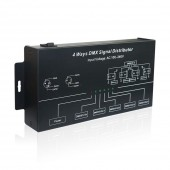 DMX124 Signal Distributor DMX512 amplifier Splitter DMX Signal Repeater 4 Ways 4 Output Ports AC100V-240V input