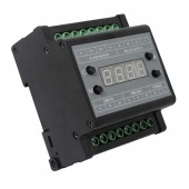 DMX303 DMX512 to 0-10V Signal Converter 3 CH Output with Digital Tube Display Black Shell 0-10V Dimmer Driver