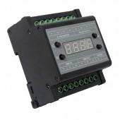 DMX303 DMX512 to 0-10V Signal Converter 3 CH Output with Digital Tube Display Black Shell 0-10V Dimmer Driver